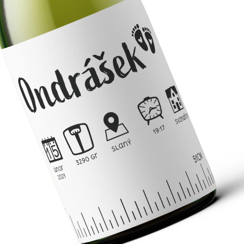 Víno k narození dítěte metriky