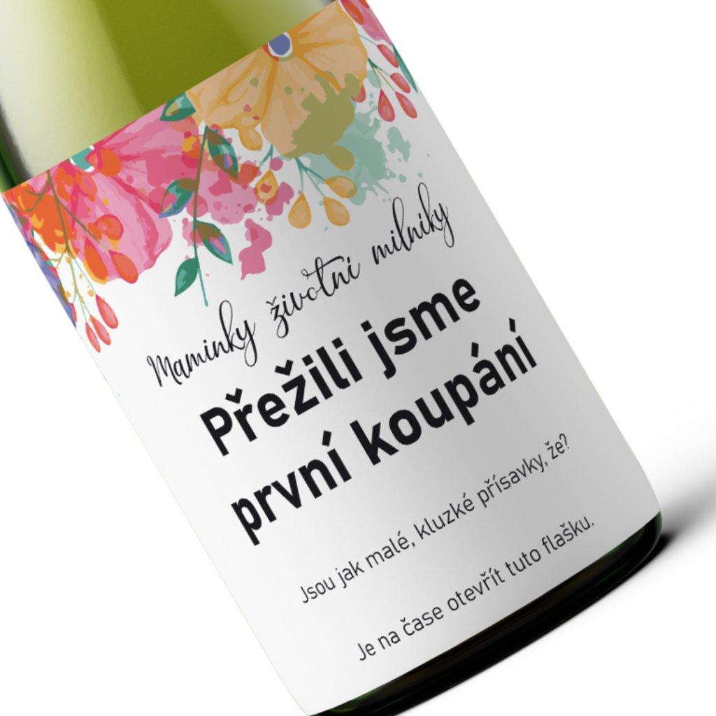 Milníkové víno První koupání