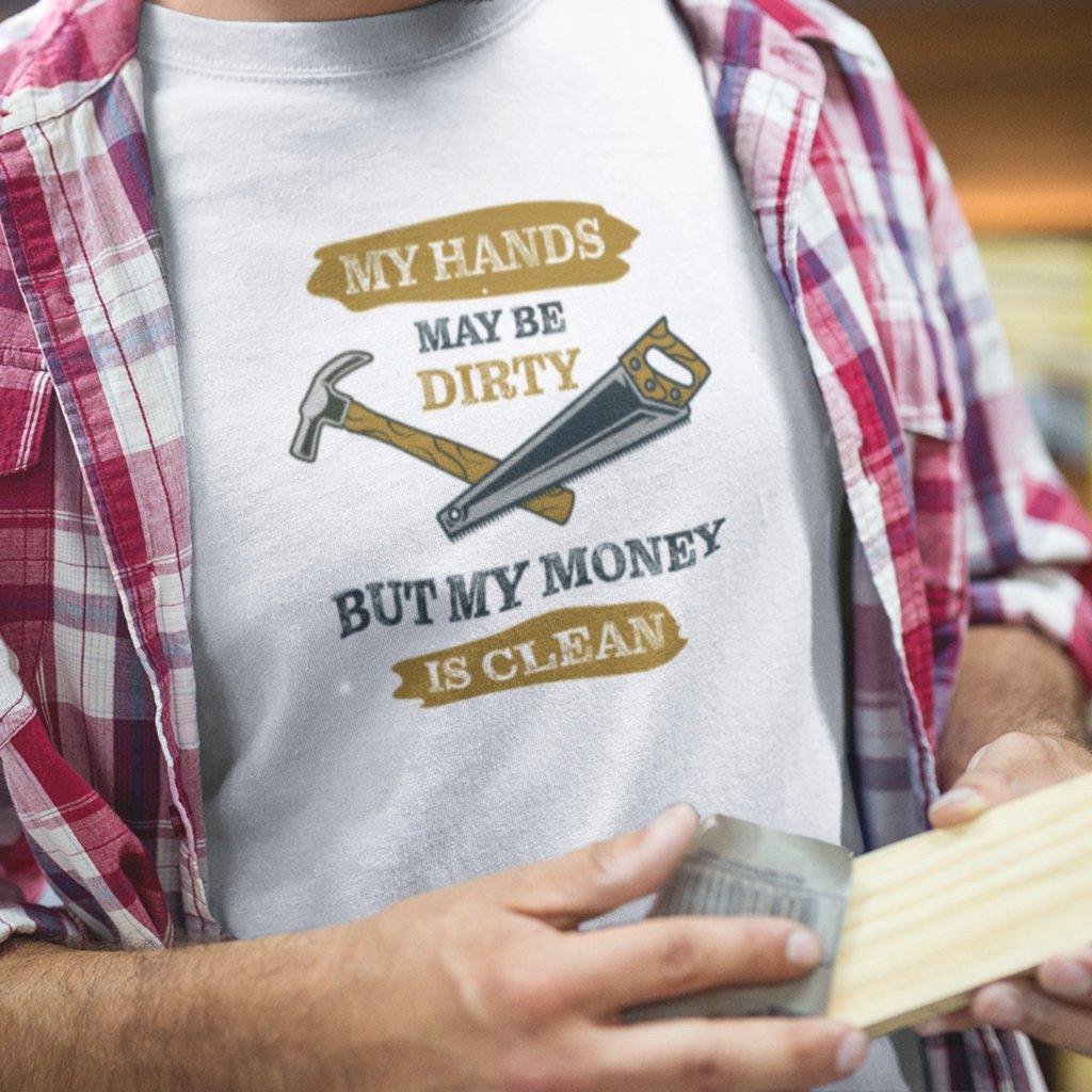 Pánské tričko Dirty hands - truhlář