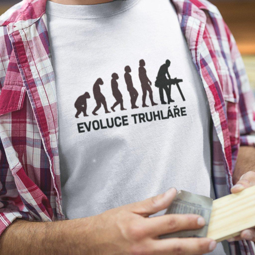 Pánské tričko Evoluce truhláře
