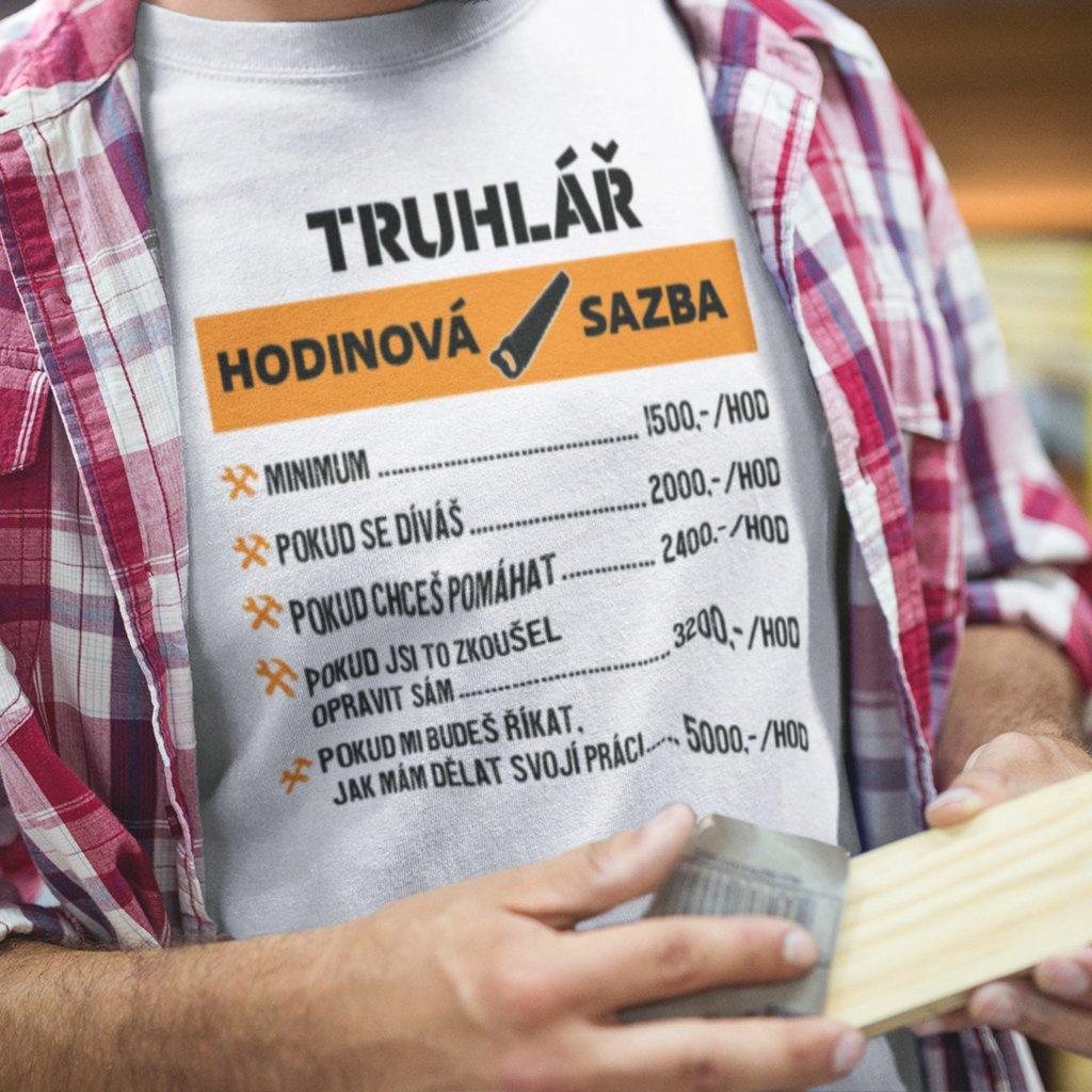Pánské tričko Hodinová sazba - truhlář