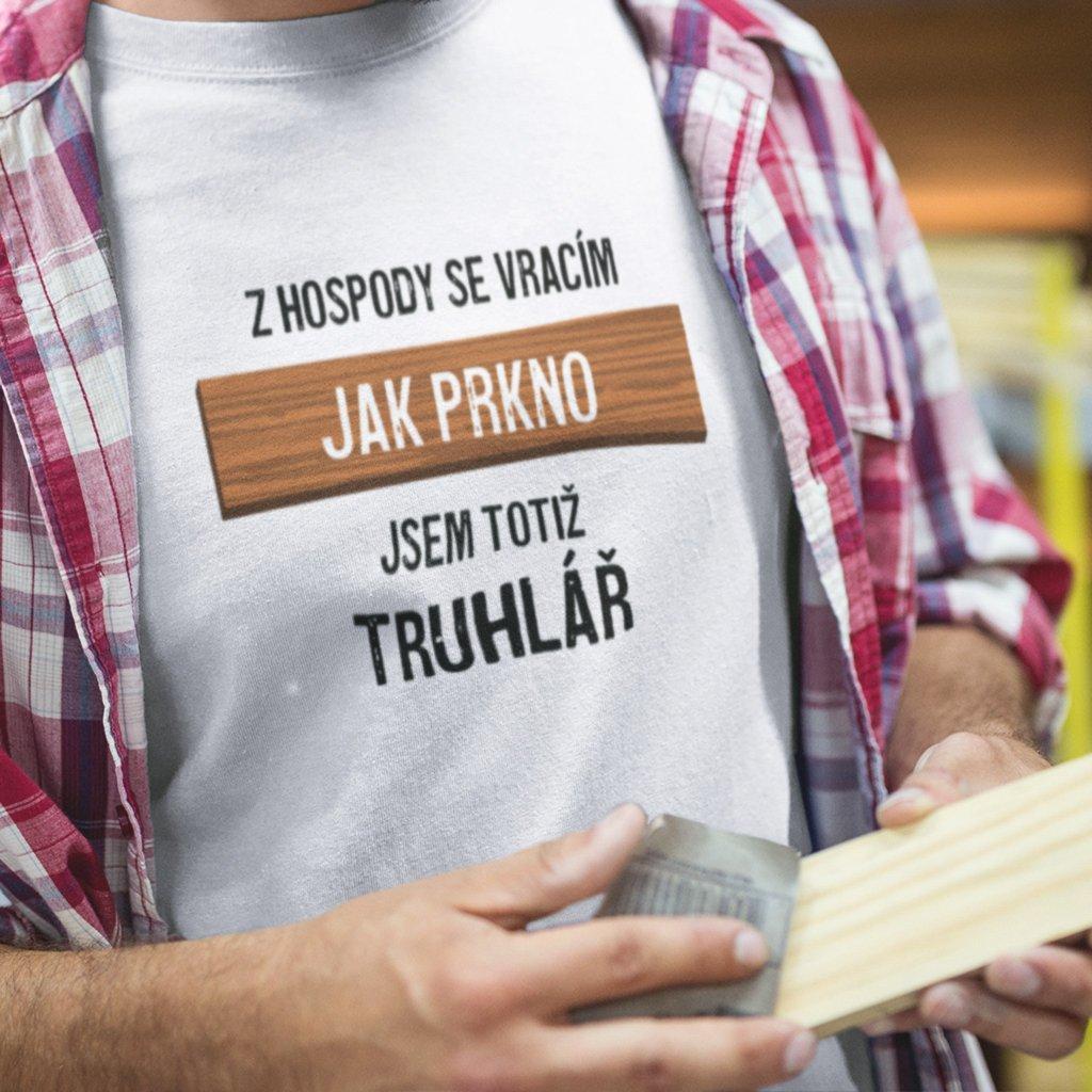 Pánské tričko Z hospody jako prkno