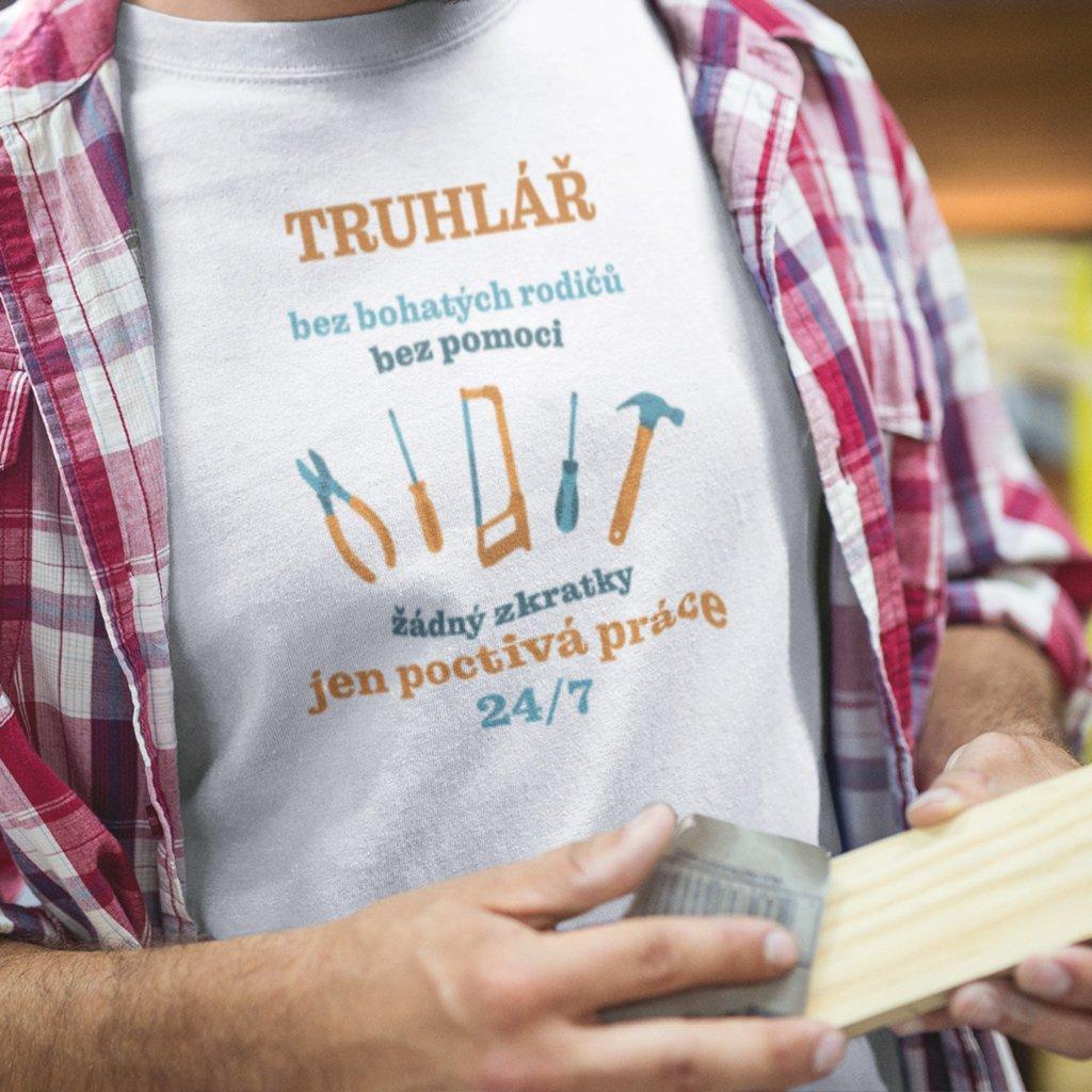 Pánské tričko Truhlář bez pomoci