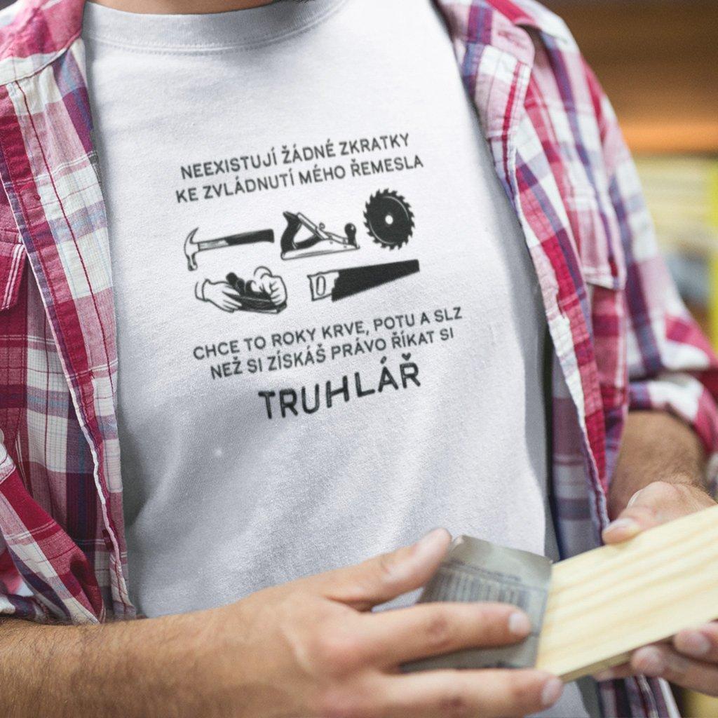 Pánské tričko Neexistují žádné zkratky-truhlář