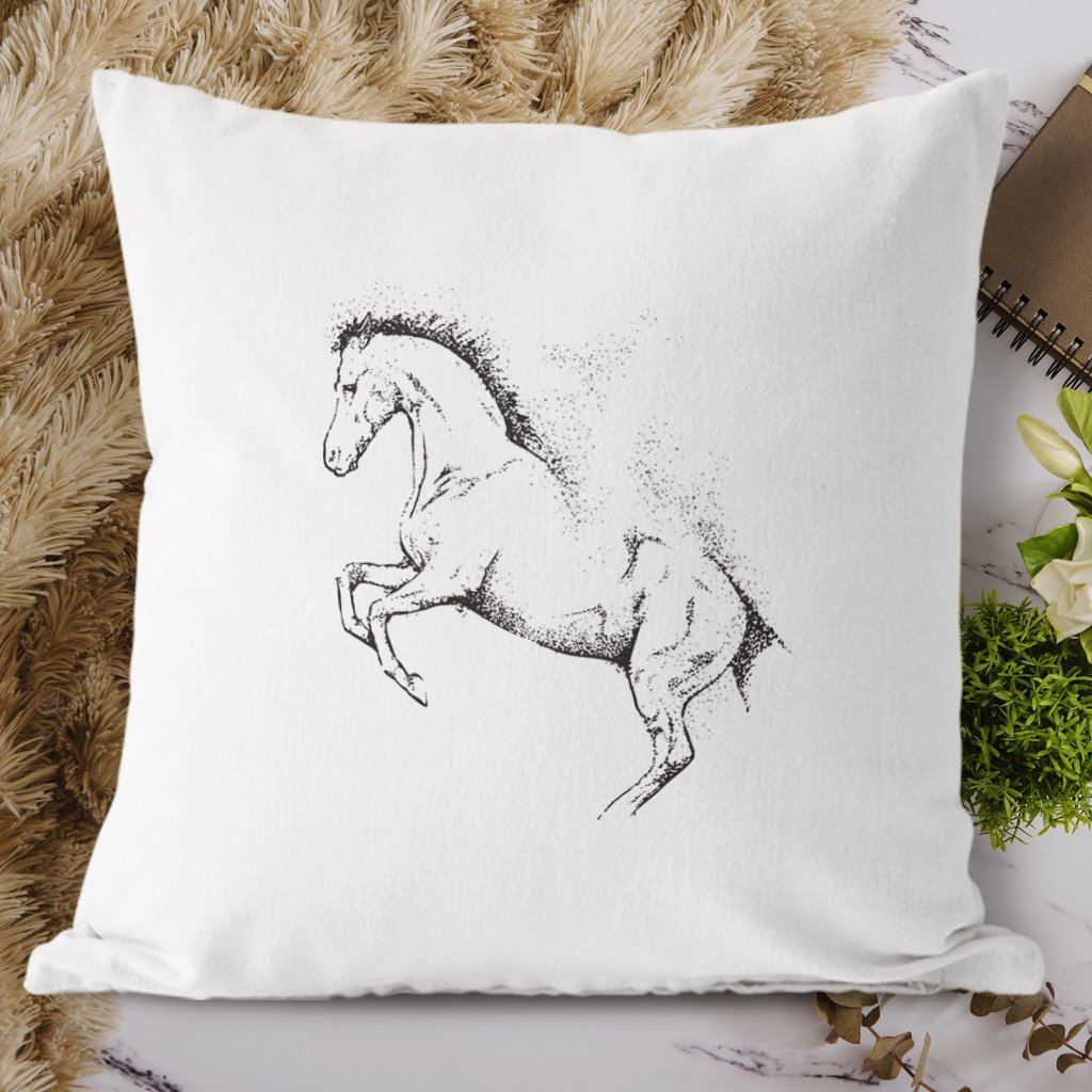 kůň tečky polštář