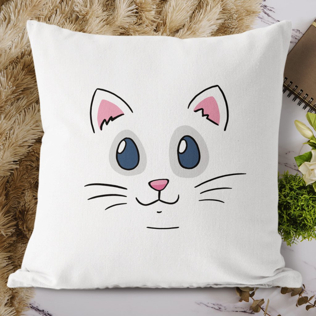 cat face polštář