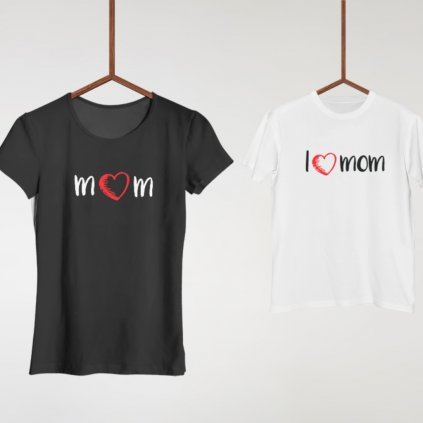 Set Mom & I Love Mom (cena za obě trička)
