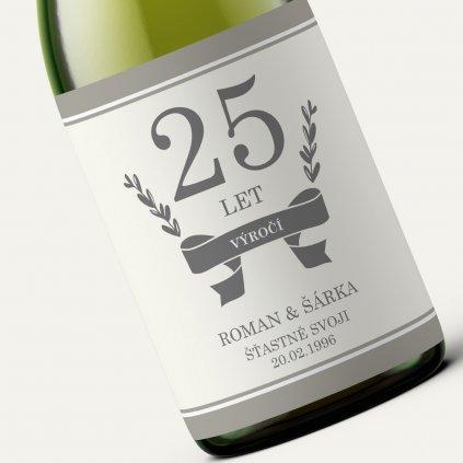 Víno k výročí - Béžová myrta (vlastní text)