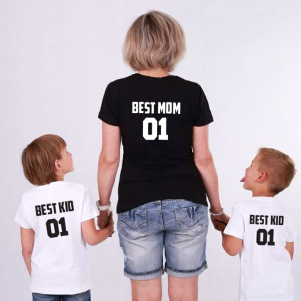 Set Best Mom 01 & Best kid 01 (cena za obě trička)