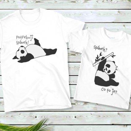 Dámské/Pánské tričko Potřebuju spát (cena za obě trička)