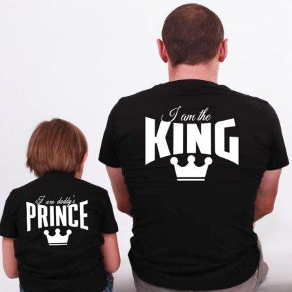 Set I am The King & I am Daddy's Prince (cena za obě trička)