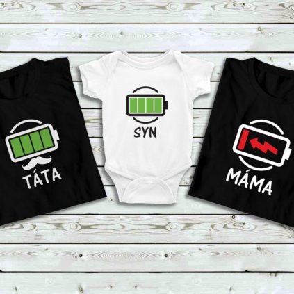 Set triček Low Battery Family