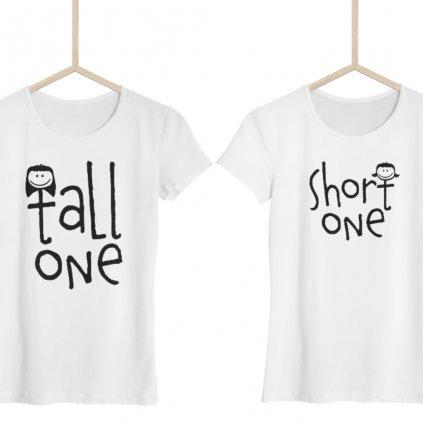 Short One & Tall One (set dvou dámských triček)