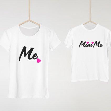 Set Me & Mini Me (cena za obě trička)