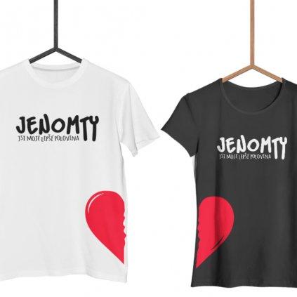 Párová trička Jenomty (cena za obě trička)