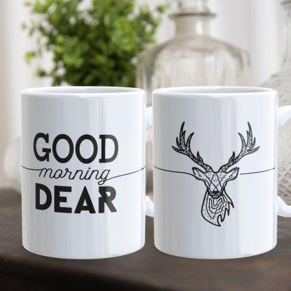 Párové hrnečky Good Morning Dear (cena za oba)