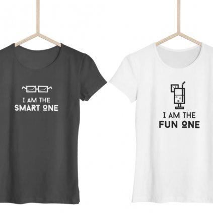 Smart One & Fun One (set dvou dámských triček)