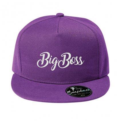 Snapback BigBoss fialový
