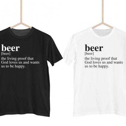 Dictionary definitions - Beer pánské tričko