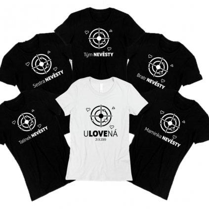 Set triček Rozlučka se svobodou - Ulovená