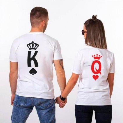 Trička KING & QUEEN letters (cena za obě trička)