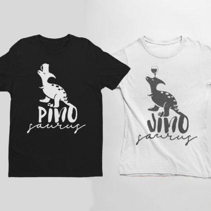 Párová trička Pivosaurus & Vínosaurus (cena za obě trička)