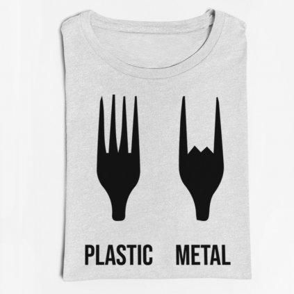 Pánské/dámské tričko Plastic metal
