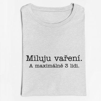 Pánské/dámské tričko Miluju vaření