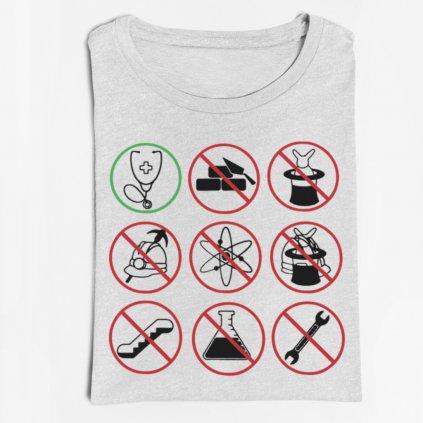 Pánské/Dámské tričko Symboly doktor