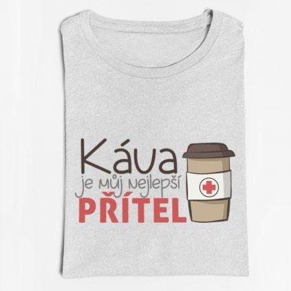 Pánské/dámské tričko Káva je můj nejlepší přítel