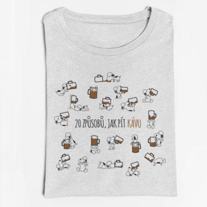 Pánské/dámské tričko 20 způsobů, jak pít kávu