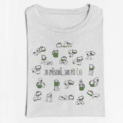 Pánské/dámské tričko 20 způsobů, jak pít čaj