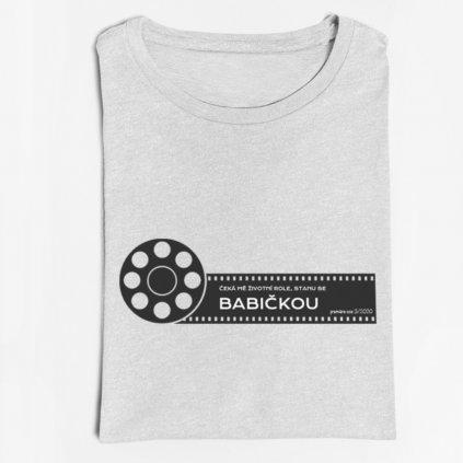 Dámské tričko Čeká mě životní role-babička