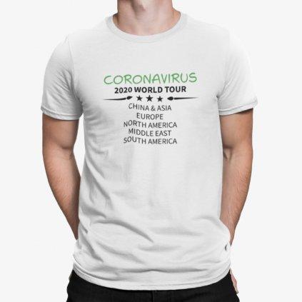 Tričko - Coronavirus worldtour