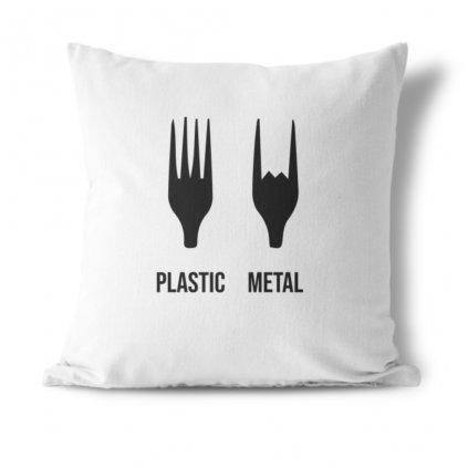 Polštářek Plastic metal