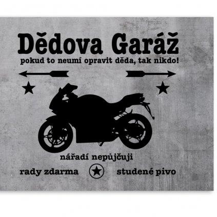 Plechová destička - (MOTORKA) Dědova garáž