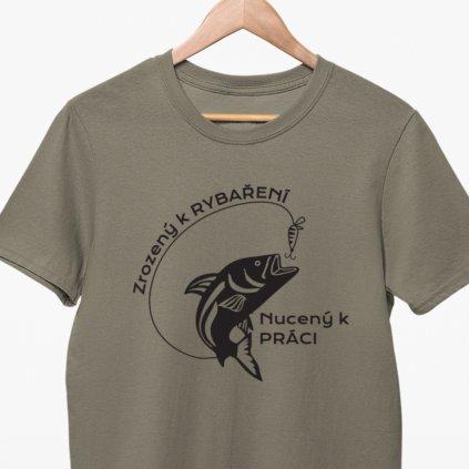 Pánské tričko - Zrozený k rybaření