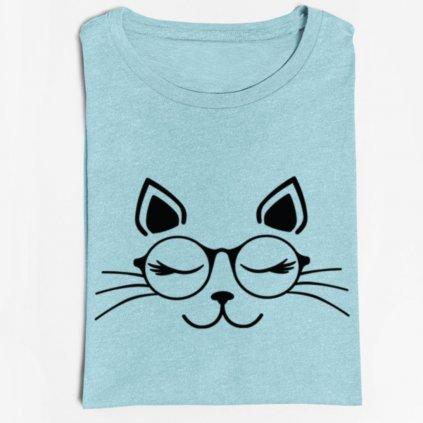 Dámské tričko Cat with glasses