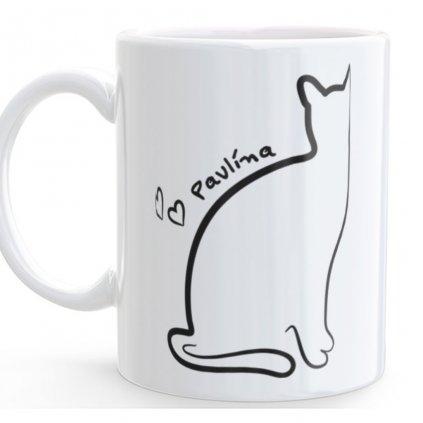 Hrneček Kočka se jménem (potisk na přání)