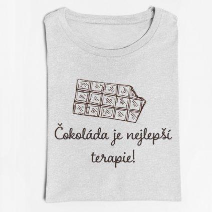 Dámské tričko Čokoláda je nejlepší terapie