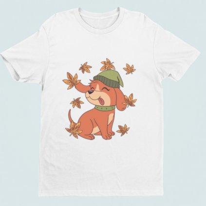 Dámské tričko Podzimní štěně