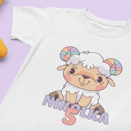 Dětské narozeninové tričko Beránek