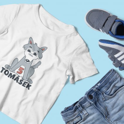 Dětské narozeninové tričko Vlk