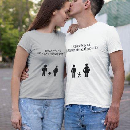Dámské/Pánské tričko Hráč číslo 3