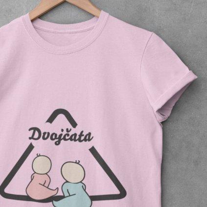 Dámské tričko Pozor dvojčata (holka a kluk)