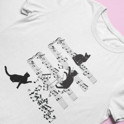 Tričko kočičí noty ver. 1
