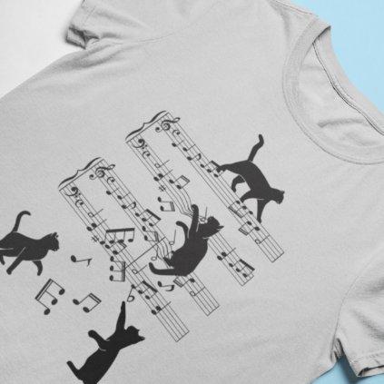 Tričko kočičí noty ver. 2