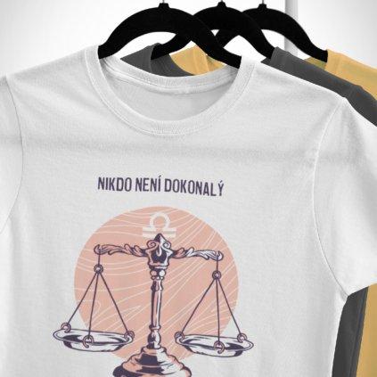 Pánské/Dámské tričko Nikdo není dokonalý - váhy