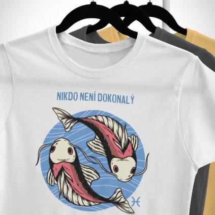 Pánské/Dámské tričko Nikdo není dokonalý - ryby