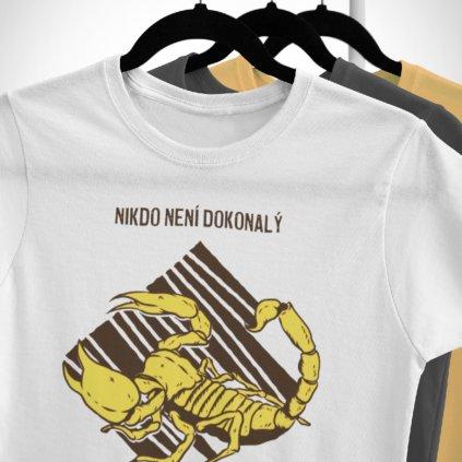 Pánské/Dámské tričko Nikdo není dokonalý - štír